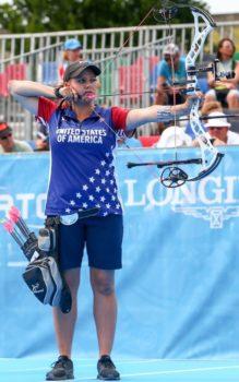 Paige Pearce, Champion archer, Sportsman's Warehouse Associate